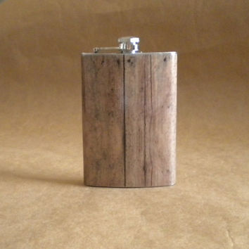 Old Barnwood Print Groomsmen Stainless Steel Gift by kryan2designs