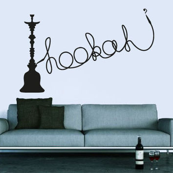 Wall Decal Vinyl Sticker Decals Art Decor Design Hookah Bar Lounge Tobacco Smoke Mans Gift  Bedroom Modern Fashion Style(r890)