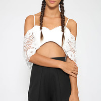 Serena Crop - White