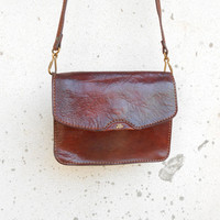 Vintage THE BRIDGE Leather Purse , Crossbody , Shoulder Bag // Small // Made in Italy