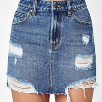 DCCKYB5 Destructed Denim Mini Skirt