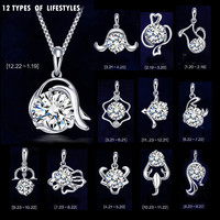 Silver Plated Twelve Constellations Pendant Upscale Retro Fashion AAA CZ Diamond Jewelry Charms