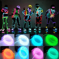 9ft 3m Neon LED Light Glow EL Wire String Strip Rope Tube Car Dance Party + Battery Pack Controller = 1946489348