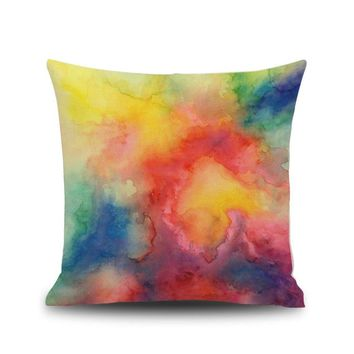 Watercolor Painting Pillow Case