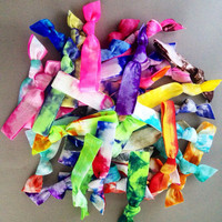 50 Wholesale Tie Dye Hair Ties-Ponytail Holders by Elastic Hair Bandz on Etsy