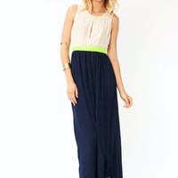 cut-out-contrast-maxi-dress NAVYNYLLW NCORALNYLLW - GoJane.com