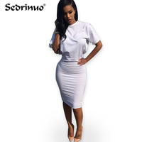 Casual Women Spring Bodycon Evening Club Dress white/Pink/gary Autumn Summer Bandage Dress Vestidos de festa Sexy Party Dresses