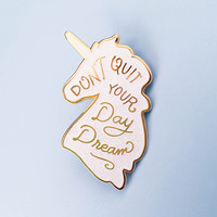 Unicorn Day Dreams Lapel Pin - Iridescent Glitter