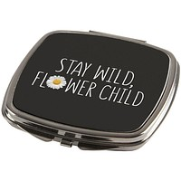 Stay Wild Flower Child Daisy Compact