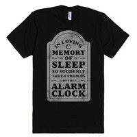 I Memory of Sleep-Unisex Black T-Shirt