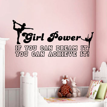 Wall Decal Quotes Dance If You Can Dream It Design Vinyl Decals Gym Playroom Nursery Living Room Kids Bedroom Home Decor Art Mural 3796