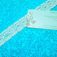 SALE 1 yard of 1 inch White Stretch elastic lace for bridal, baby headband, lingerie, garter, hair accessories by MarlenesAttic - Item G1
