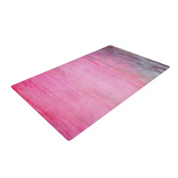 "Iris Lehnhardt ""Color Wash Pink"" Blush Paint Woven Area Rug"