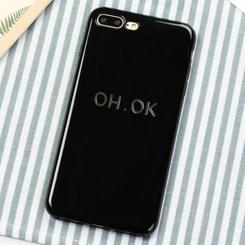 OH.OK Pattern Case for iPhone X 8 7 6S Plus &Gift Box