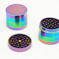 Hot Cool Dazzle Grinder Beautiful Colours 4 Layers Metal 40 50 52 63 MM Herbal Spice Crusher Hand Muller Smoking Herb Grinder