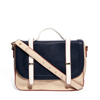 Warehouse Spring Colour Block Satchel