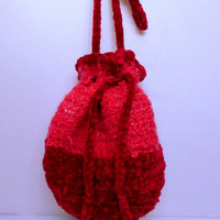Cranberry Shopping Tote Drawstring Bag Handbag