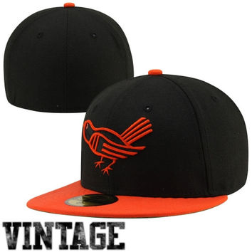 New Era Baltimore Orioles Cooperstown Collection 59FIFTY Fitted Hat - Black/Orange