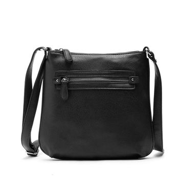 Handbags Lady Women Handbag Shoulder Bags Tote Purse Leather Messenger Bag  Solid Zipper Versatile Handbag For Women