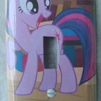 Custom light switch cover / plate. My Little Pony: Twilight Sparkle