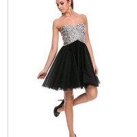 PRIMA Glitz GZ1510 Banded Beading Homecoming Cocktail Dress