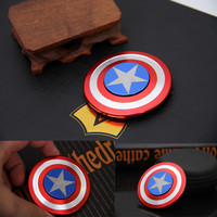 2017 New Fidget Toy Hand Spinner Metal Finger Stress Spinner Captain America Shield