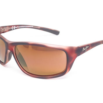 Maui Jim Spartan Reef MJ H278-10MR Matte Tortoise Rubber Polarized Sunglasses