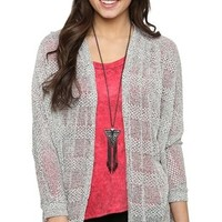 Long Sleeve Sparkle Cocoon Cardigan