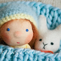 Waldorf doll - Easter present - Easter Bunny and Baby - Waldorf inspired baby doll