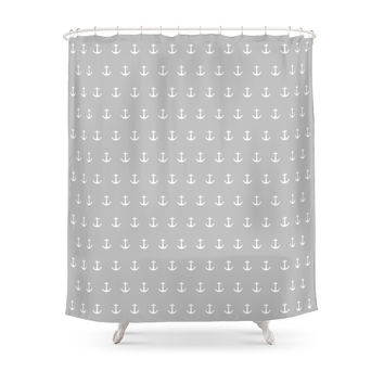 Society6 Anchor Print Shower Curtain