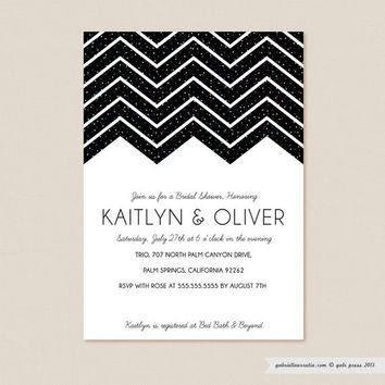 Glitter  Printable Invitation 5 x 7 Card by gabipress on Etsy