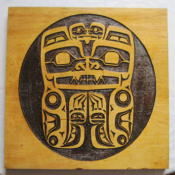 Haida Tribal Native American Art - Pacific Northwest Tribal Inspired Carving