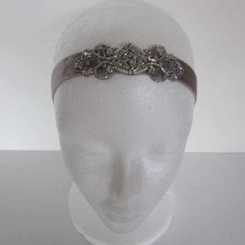 Great Gatsby Hair Pieces for Gatsby Dress, Sequins Tiny Pearls Metallic Thread, Flapper Style Art Deco