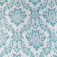 Damask Fabric  Green Fabric Quilting Fabric Aqua Damask Fabric Craft Fabric Home Decor Fabric