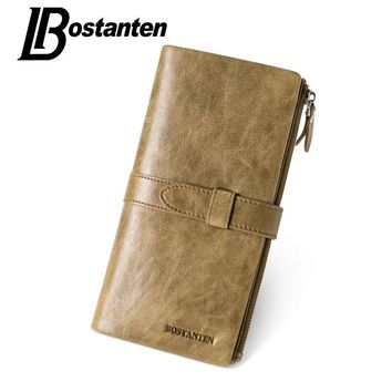 Genuine Leather Men Wallets Long Clutch Wallets Men Zipper Coin Purse Male Wallet Card Holder Men's Purse