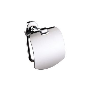 Sonia E-PLUS Wall Toilet Paper Holder With Lid Tissue Dispenser Bath, Brass