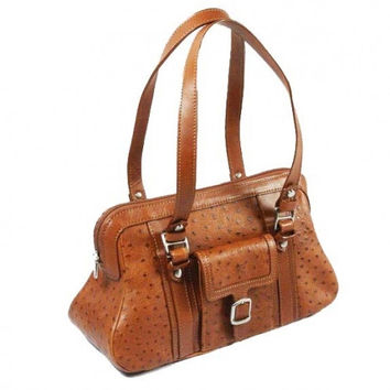 Tony Perotti Italian Vegatale leather ladies shoulder handbag TP-76810 - Cognac