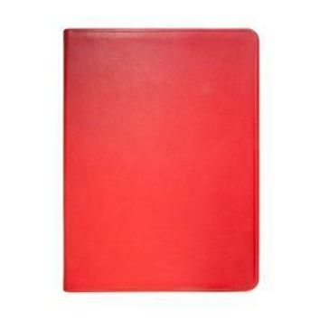 8 Inch Lined Soft Cover Journal  Traditional Leather - Red