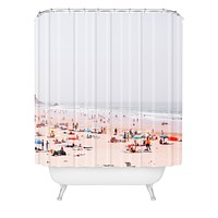 Hello Twiggs At the beach Shower Curtain