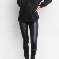 Not Happening Faux Leather Liquid Leggings