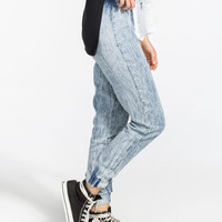 Zco Acid Chambray Womens Jogger Pants Acid Wash  In Sizes