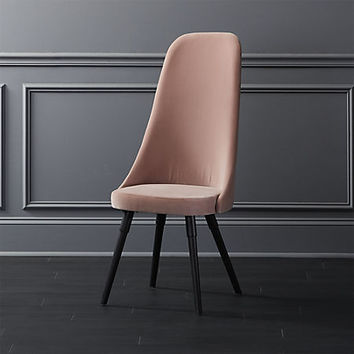 harlow pink velvet chair