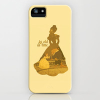 As Old as Time - Yellow iPhone & iPod Case by MargaHG