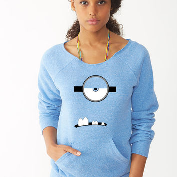 Evil Minion Face ladies sweatshirt