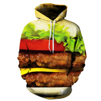 Double Patty Cheese Burger Hoodie