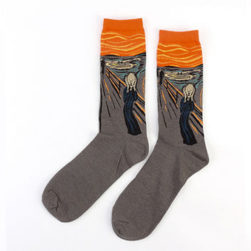 "Edvard Munch's ""The Scream"" Sock"