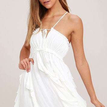 Sunny Skies White Dress