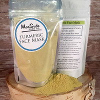 TURMERIC FACE MASK, Honey Face Wash, Bentonite Clay Face Mask, Skin Lightening, Acne Scar Treatment, Exfoliating Mask, Hydrating Mask