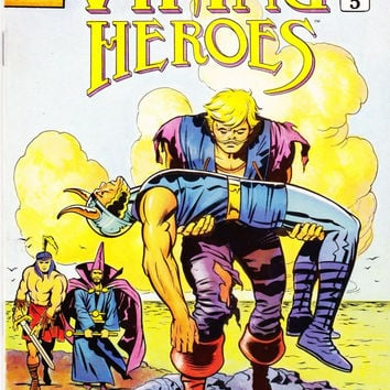 Vintage Last Of The Viking Heroes Comic Book #5 June 1988 Genesis West Comics