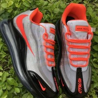 HCXX 19July 940 Nike Air Max 720-95 Heron Preston By You Transparent Flyknit Breathable Running Shoes black grey orange